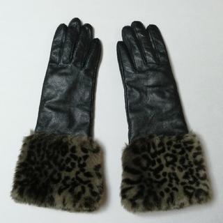 ケイトスペードニューヨーク(kate spade new york)の【KATE SPADE】ファー付きロンググローブ(手袋)
