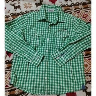 DOUBLE.B - ダブルビー チェックシャツ 130