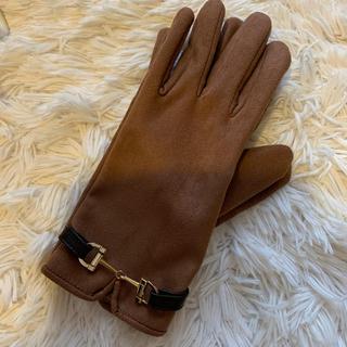 ヴィス(ViS)のvis スウェード調 手袋 ブラウン(手袋)