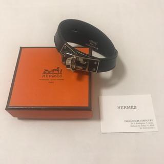 Hermes - 美品 HERMES エルメス ドゥブルトゥール ケリー ブレスレット 黒 G刻印