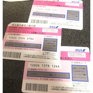 エーエヌエー(ゼンニッポンクウユ)(ANA(全日本空輸))の株主優待券(航空券)