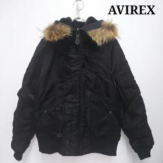 アヴィレックス(AVIREX)のAVIREX アヴィレックス MA-1 タヌキ ファー ジャンバー JJ072(ナイロンジャケット)
