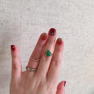 K18翡翠ダイヤモンドリング(リング(指輪))