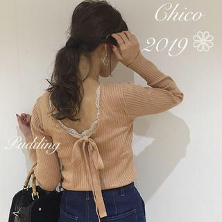 who's who Chico - 新品タグ付き💓バックリボンニット