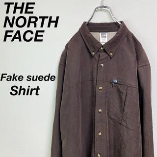 ザノースフェイス(THE NORTH FACE)の古着 ノースフェイス フェイク スウェード シャツ XL ビッグシャツ(シャツ)