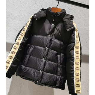 グッチ(Gucci)のGUCCI☆GGパターン ダウン ジャケット 48 ユニセックス(ナイロンジャケット)