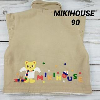 ミキハウス(mikihouse)の【美品】 ミキハウス ボア ジャンバー ブルゾン ジャケット 90(コート)
