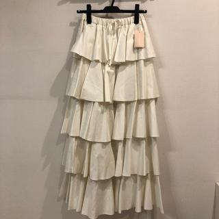 ツルバイマリコオイカワ(TSURU by Mariko Oikawa)のツルバイマイコオイカワ 5段フリルフレアロングスカート(ロングスカート)