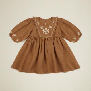 Caramel baby&child  - Apolina 20aw VIVIENNE dress ( sand)