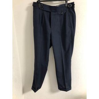 スーツカンパニー(THE SUIT COMPANY)のスーツカンパニー カノニコ ウール テーパードパンツ ネイビー(スラックス)