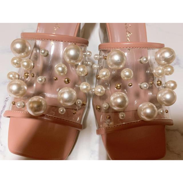 eimy istoire(エイミーイストワール)のeimyistoire   パールスタッズクリアサンダル レディースの靴/シューズ(サンダル)の商品写真