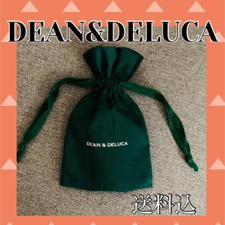 ディーンアンドデルーカ(DEAN & DELUCA)のDEAN&DELUCA 巾着袋 グリーン 深緑 緑色(ポーチ)