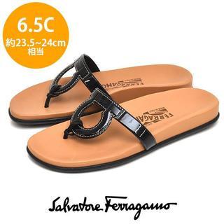 Salvatore Ferragamo - ほぼ新品❤フェラガモ ステッチ ガンチーニ サンダル 6.5C(約23.5-24