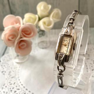 agete - 【電池交換済み】agete アガット 腕時計 シルバー  0.028ct