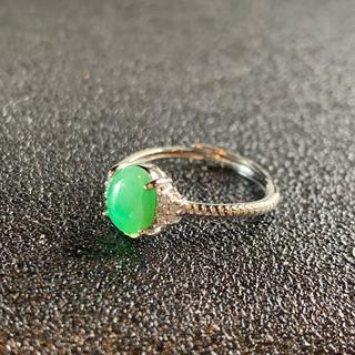卸値 指輪 本翡翠 緑色 ヒスイ A貨 シルバー 誕生日プレゼント 本物保証88(リング(指輪))