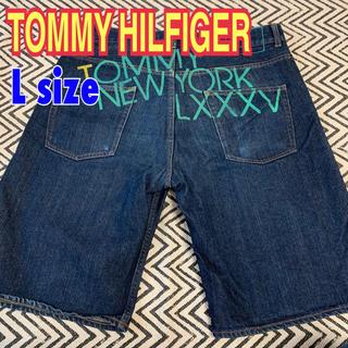 トミーヒルフィガー(TOMMY HILFIGER)のデニムハーフパンツ   メンズ L  トミーフィルフィガー(ショートパンツ)