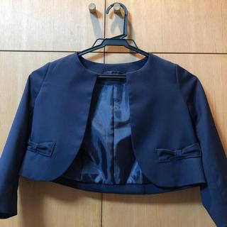 ジーユー(GU)のgu ノーカラージャケット 濃紺 110(ドレス/フォーマル)