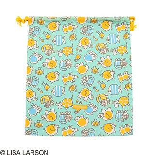 リサラーソン(Lisa Larson)のリサラーソン  巾着袋 Lサイズ ベイビーマイキーポップ シューズ 体操服入れ(体操着入れ)
