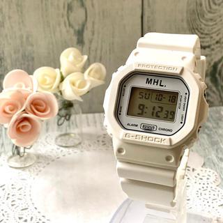 ジーショック(G-SHOCK)の【美品】MHL. × G-SHOCK  腕時計 ホワイト マーガレットハウエル(腕時計(デジタル))