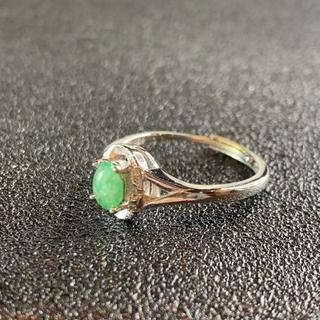 卸値 指輪 本翡翠 緑色 ヒスイ A貨 シルバー 誕生日プレゼント 本物保証94(リング(指輪))