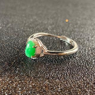 卸値 指輪 本翡翠 緑色 ヒスイ A貨 シルバー 誕生日プレゼント 本物保証86(リング(指輪))