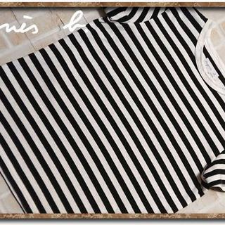 アニエスベー(agnes b.)のアニエスベー ボーダーカットソー 白×黒(カットソー(半袖/袖なし))