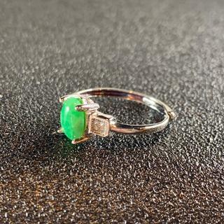 卸値 指輪 本翡翠 緑色 ヒスイ A貨 シルバー 誕生日プレゼント 本物保証84(リング(指輪))