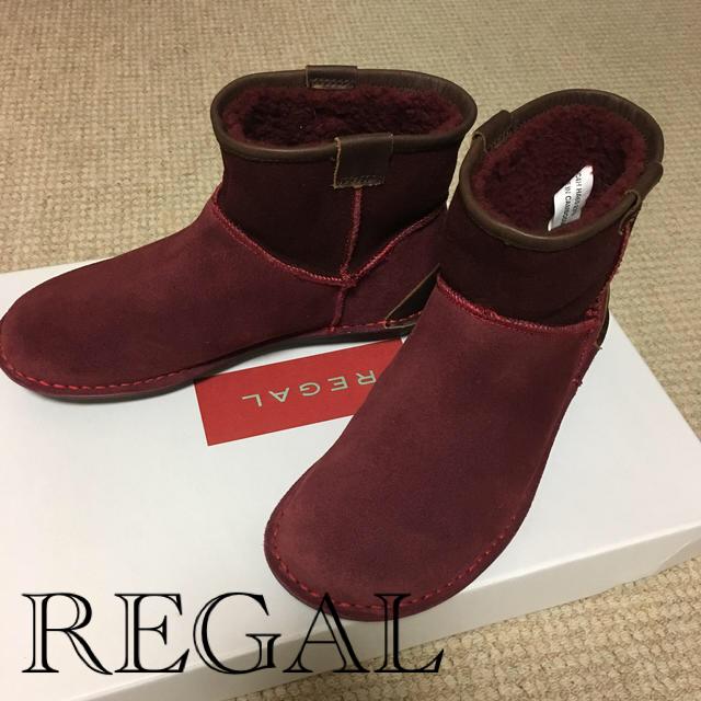REGAL(リーガル)の新品 REGAL 本革 ムートン ブーツ レディースの靴/シューズ(ブーツ)の商品写真