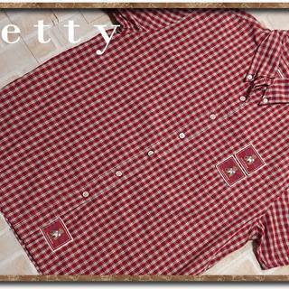 ケティ(ketty)のケティ チェック半袖シャツ 赤(シャツ/ブラウス(半袖/袖なし))