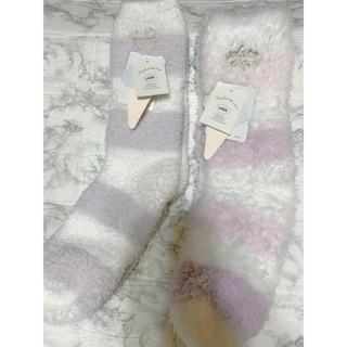 ジェラートピケ(gelato pique)のジェラードピケ 靴下 ルームソックス 2足(ソックス)