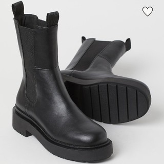 H&M - 新品 H&M ハイプロファイルチェルシーブーツ 35 黒 タグ付き