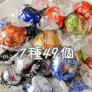 Lindt - リンツ リンドールチョコレート 7種49個