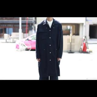 ヨウジヤマモト(Yohji Yamamoto)のALMOSTBLACK LONG COAT オールモストブラック コート(ステンカラーコート)