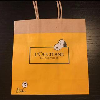 ロクシタン(L'OCCITANE)のロクシタン 限定スヌーピー紙袋 ピーナッツ スヌーピー (キャラクターグッズ)
