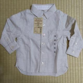 ムジルシリョウヒン(MUJI (無印良品))の新品タグ付き シャツ  無印良品  オーガニックコットン フランネル(シャツ/カットソー)