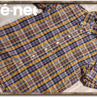 ネネット(Ne-net)のネネット チェック半袖シャツ(シャツ/ブラウス(半袖/袖なし))