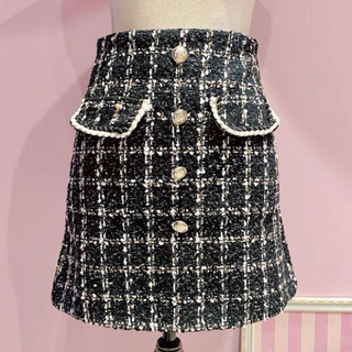 dholic - ディーホリック ツイードスカート