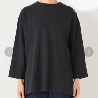 ミスティウーマン(mysty woman)のミスティウーマン サイドスリットチュニックTシャツ(カットソー(長袖/七分))