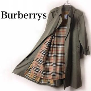 BURBERRY - オールドバーバリー ダブルトレンチコート ノバチェック ライナー ベルト 玉虫色