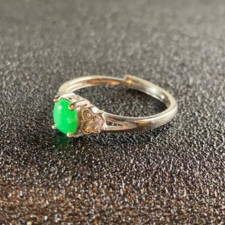 卸値 指輪 本翡翠 緑色 ヒスイ A貨 シルバー 誕生日プレゼント 本物保証81(リング(指輪))