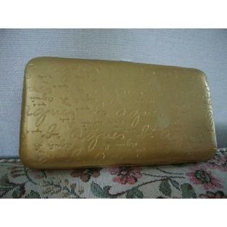 アニエスベー(agnes b.)のアニエスベー 長財布 ゴールド(金色)(財布)