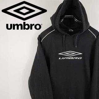 アンブロ(UMBRO)の【古着】アンブロ umbro 刺繍ロゴ スウェット パーカー ブラック XL(パーカー)
