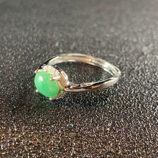 卸値 指輪 本翡翠 緑色 ヒスイ A貨 シルバー 誕生日プレゼント 本物保証77(リング(指輪))