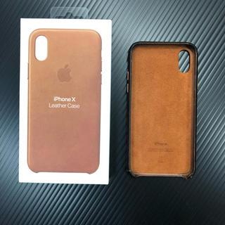 Apple - iPhoneX/Xs Apple純正 レザーケース 元箱付き