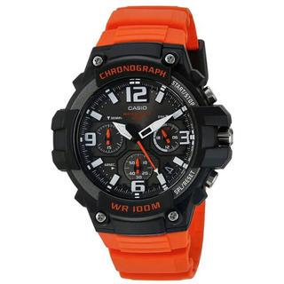 カシオ(CASIO)の★最終値下★Casio メンズ 腕時計 クロノグラフクオーツ オレンジ(腕時計)