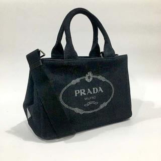 PRADA - 送料無料 ショルダー付きハンドバッグ デニムブラックカラーPRADA