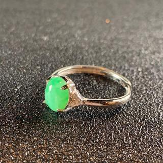 卸値 指輪 本翡翠 緑色 ヒスイ A貨 シルバー 誕生日プレゼント 本物保証74(リング(指輪))
