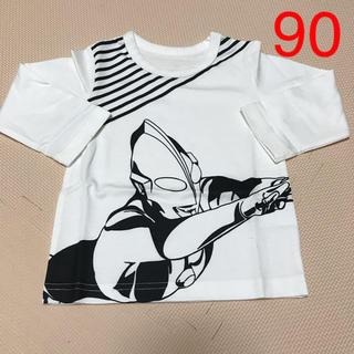 バンダイ(BANDAI)の59 子供用 長袖Tシャツ ウルトラマン ロンT キッズ 男の子 90(Tシャツ/カットソー)