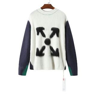 オフホワイト(OFF-WHITE)のモヘアのセーターのカップル(カットソー(長袖/七分))