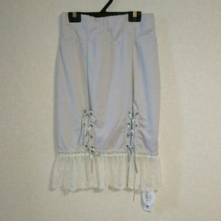 モンリリィ(mon Lily)のmonLilyレースアップタイトスカート(ひざ丈スカート)